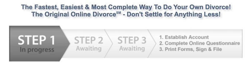 picture of all the required steps for 3StepsDivorce online process