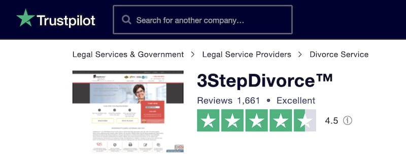 picture of 3StepDivorce Trustpilot Reviews profile