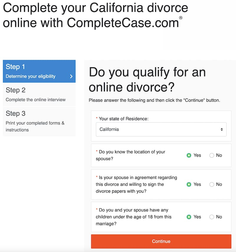 picture of step 1 on completecase.com