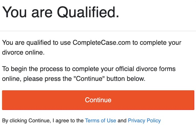 picture of being eligible to use completecase.com