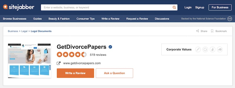 picture of GetDivorcePapers profile on SiteJabber