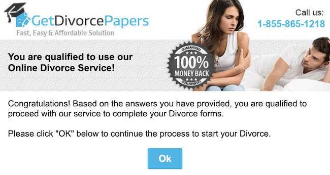 picture of GetDivorcePapers Step 1a