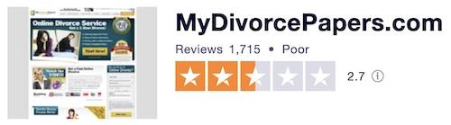 picture of MyDivorcePapers TrustPilot reviews